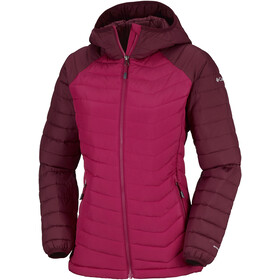 Columbia Powder Lite Veste à capuche Femme, pomegranate/rich wine